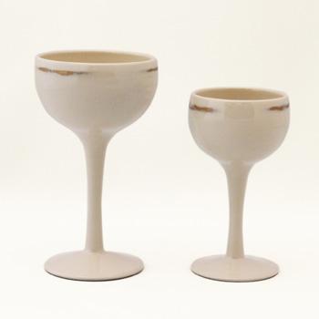 ワインカップ(変根来-白)