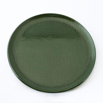 皿型丸盆(霞根来-松葉)