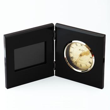 時計付フォトフレーム(黒)