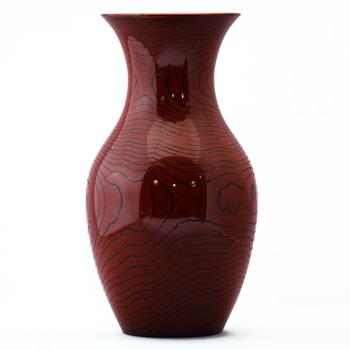 古木塗くりぬき花瓶
