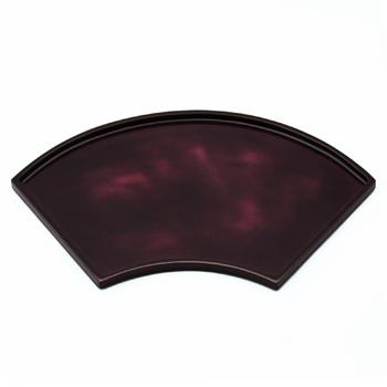 末広皿(溜紫)