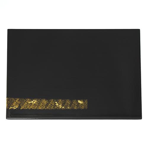 長角金線折敷(黒)