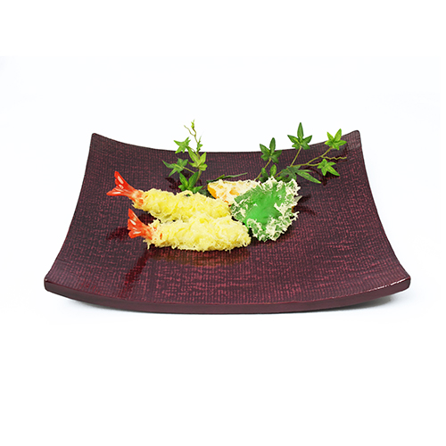 ハソリ盛皿小(霞根来-紫根)