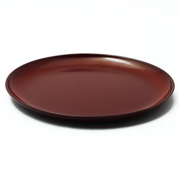 6寸丸皿(銀朱)