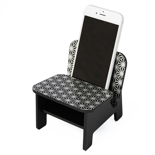 SPEAKER CHAIR chair type - Premium 麻の葉(黒)