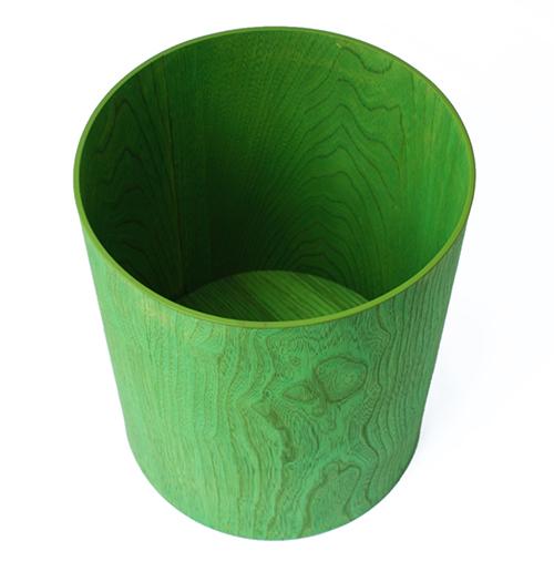 染木丸くず入(緑)