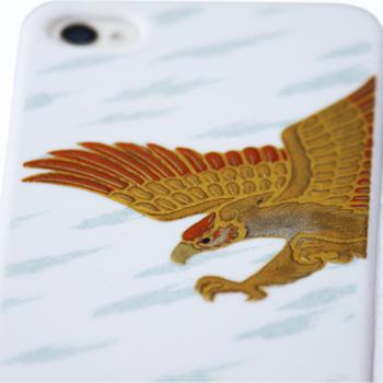 高蒔絵for iPhone4/4S専用ケース 白(鷹)