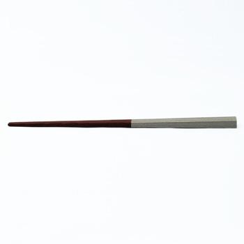 杉拭漆箸半塗り(シルバー)