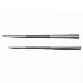 ストライプ箸(シルバー)
