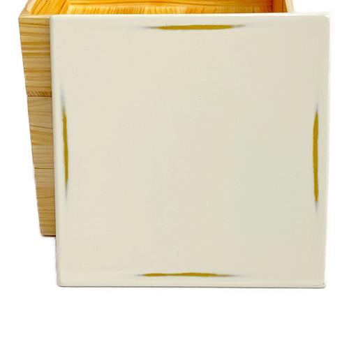 Njeco汎正角三段重箱(変根来-白)