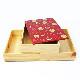 Njeco汎和菓子蒔絵三段重箱(赤)