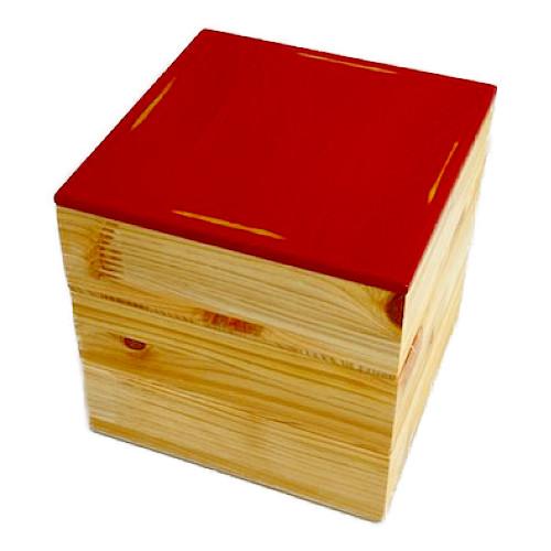 Njeco汎正角三段重箱(変根来-赤)