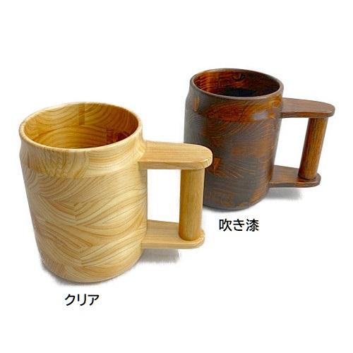 くりぬきビアカップ(吹き漆)