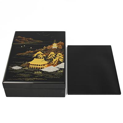 山水蒔絵硯箱