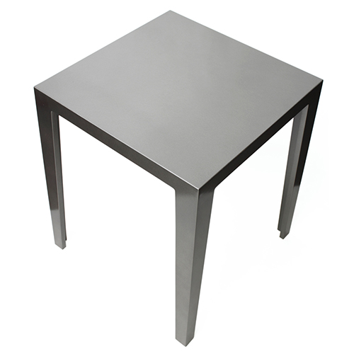正角サイドテーブル(シルバー)