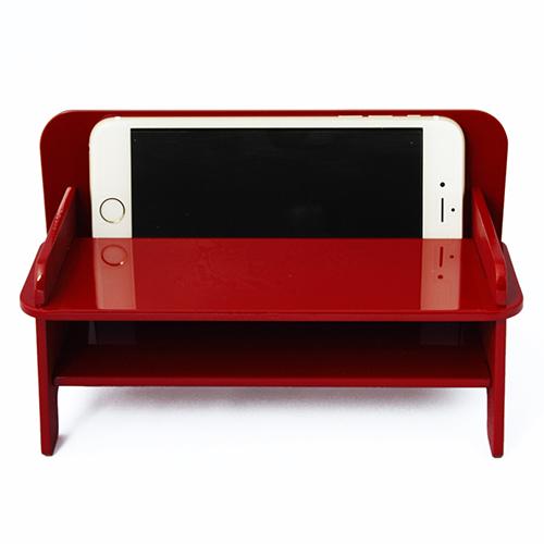 SPEAKER CHAIR bench type - Premium プレーン(赤)