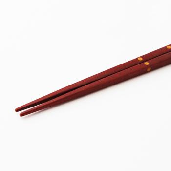 ドット箸(赤金)