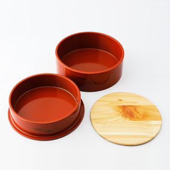 Njeco汎丸二段弁当箱(根来)
