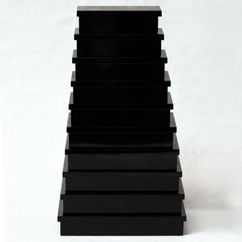 長角入子BOX十段(黒)