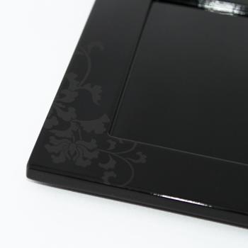 唐草角小皿2P(黒)