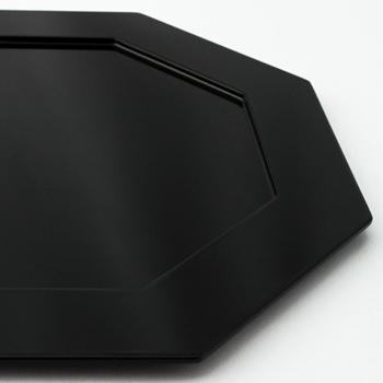 八角プレスプレート(黒)