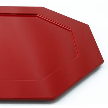 八角プレスプレート(赤)