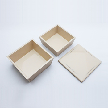 変根来台形ミニ入子二段重箱