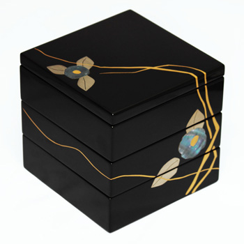 貝椿絵小重箱