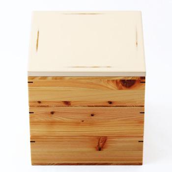 Njeco汎6寸三段重箱(変根来-白)