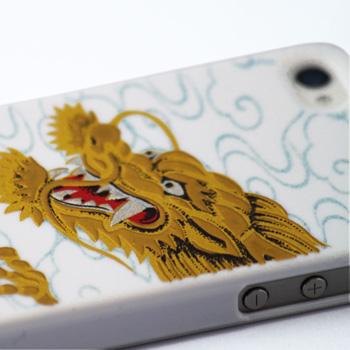 高蒔絵for iPhone4/4S専用ケース 白(龍)