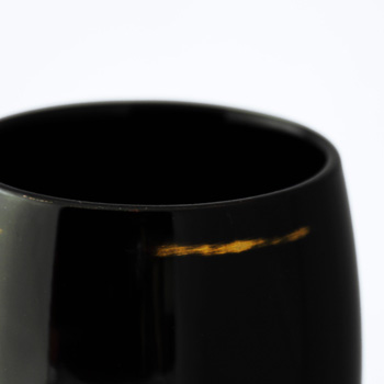 木製ワインカップTall(変根来-黒)
