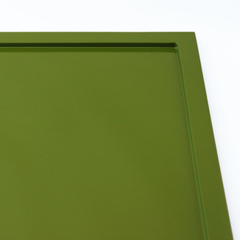 特注角皿リム18(グリーン)