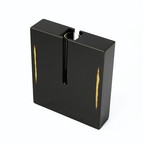 ブロック花器(変根来-黒)