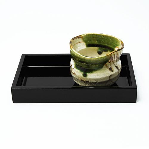 豆長角盆(黒)