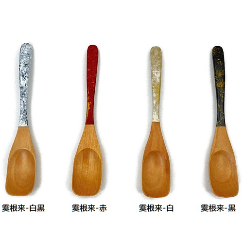 デザートスプーン(霙根来-白)