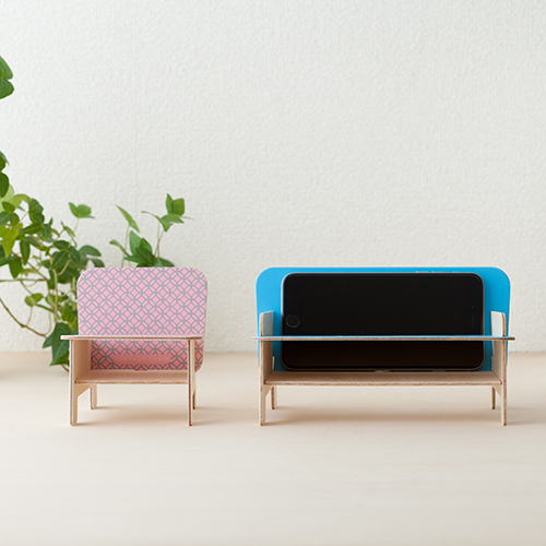 SPEAKER CHAIR bench type - Premium 麻の葉(赤)