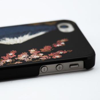 蒔絵for iPhone4/4S専用ケース 黒(富士に桜)