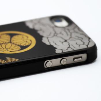 蒔絵for iPhone4/4S専用ケース 黒(徳川印籠)