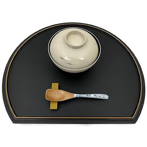 デザートスプーン(霙根来-白黒)