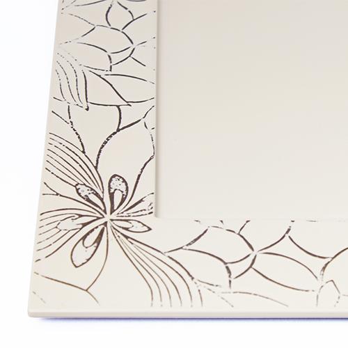 研絵和花角皿(オフホワイト)