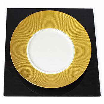 【白磁】ディモーダ28cmディナープレート(ゴールド)