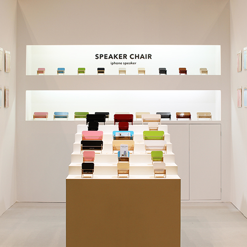 SPEAKER CHAIR chair type - Premium プレーン(黒)