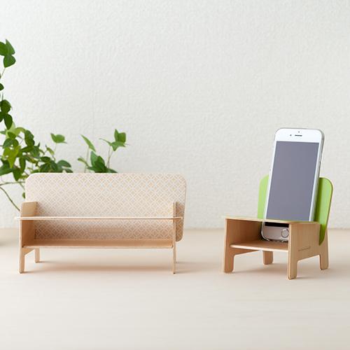 SPEAKER CHAIR chair type - Premium 麻の葉(オフホワイト)