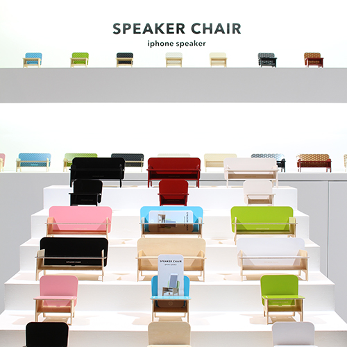 SPEAKER CHAIR bench type - Standard 七宝(ブラック)