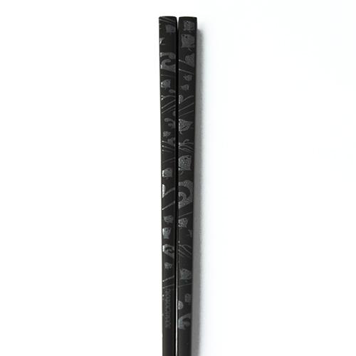 J-Pattern箸 波千鳥(黒)