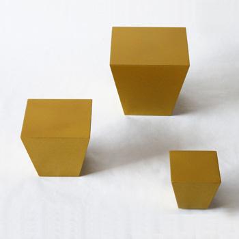 台形ブロック(ゴールド)