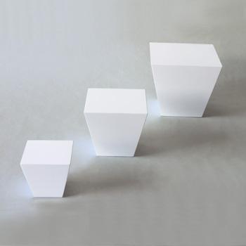 台形ブロック(ピュアホワイト)