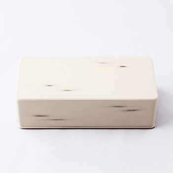 Njeco汎長角二段弁当箱(変根来)