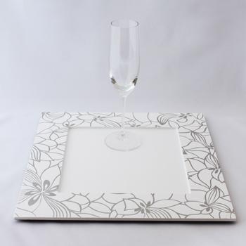 和花角皿(ピュアホワイト)