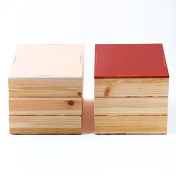 Njeco汎三段重箱(変根来-白)